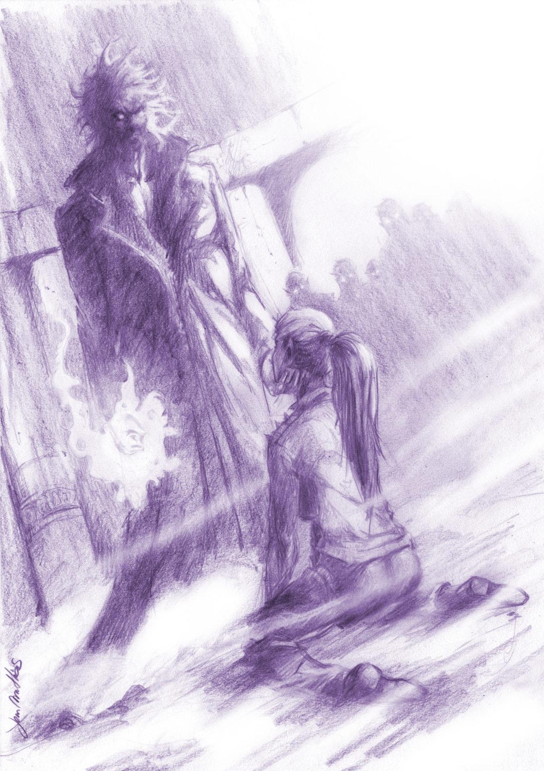 Une femmeest à genoux devant un homme
